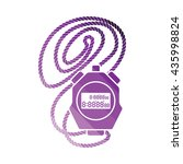 coach stopwatch  icon. flat...
