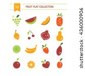vector collection of fresh... | Shutterstock .eps vector #436000906