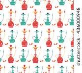 vector hookah seamless pattern... | Shutterstock .eps vector #436000948