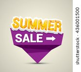 vector summer sale sticker .... | Shutterstock .eps vector #436001500