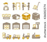 pack  package  packaging icon... | Shutterstock .eps vector #436002574