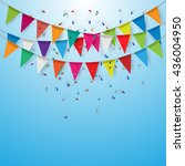 party flags celebrate banner....   Shutterstock .eps vector #436004950