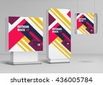 template for outdoor adverting... | Shutterstock .eps vector #436005784