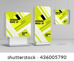 template for outdoor adverting... | Shutterstock .eps vector #436005790