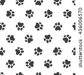 seamless vector pattern   black ... | Shutterstock .eps vector #436006570