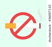 flat no smoking icon. vector... | Shutterstock .eps vector #436007110