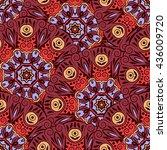 mandala seamless pattern.... | Shutterstock .eps vector #436009720