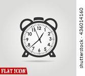 alarm clock icon vector eps10... | Shutterstock .eps vector #436014160