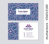 visiting card and business card ... | Shutterstock .eps vector #436015180