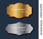 set of abstract vector gold and ... | Shutterstock .eps vector #436016599