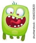 cartoon cute monster   Shutterstock .eps vector #436023820