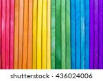 abstract gay pride rainbow... | Shutterstock . vector #436024006