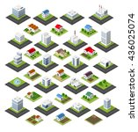 isometric set of icons isolated ... | Shutterstock .eps vector #436025074
