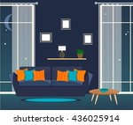 furniture. the living room at... | Shutterstock .eps vector #436025914