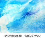marine watercolor background.... | Shutterstock . vector #436027900