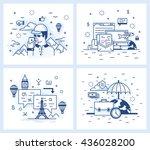 set of vector illustrations in...   Shutterstock .eps vector #436028200