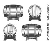 barrel on a white background ... | Shutterstock .eps vector #436030090