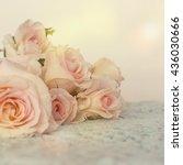 fresh roses flowers | Shutterstock . vector #436030666