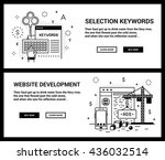 vector concept  a set of... | Shutterstock .eps vector #436032514