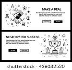 vector concept  a set of... | Shutterstock .eps vector #436032520