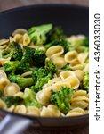 pasta with broccoli | Shutterstock . vector #436033030