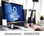 update upgrade installation... | Shutterstock . vector #436033783