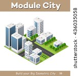 isometric perspective city with ... | Shutterstock .eps vector #436035058