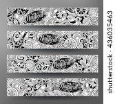 cartoon line art vector hand...   Shutterstock .eps vector #436035463