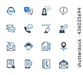 contact us icons set 6   blue... | Shutterstock .eps vector #436035694