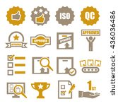 quality icon set   Shutterstock .eps vector #436036486