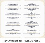 collection of vintage... | Shutterstock .eps vector #436037053