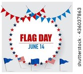 happy flag day background... | Shutterstock .eps vector #436037863