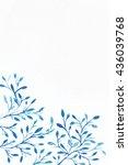 watercolor background. flower...   Shutterstock . vector #436039768