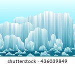 parallax background of icebergs ... | Shutterstock .eps vector #436039849
