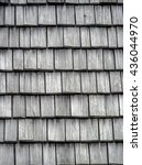Wooden Shingles On The Roof As...