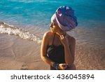close up portrait of  beautiful ... | Shutterstock . vector #436045894