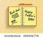 happy father's day message on... | Shutterstock .eps vector #436046770