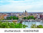 panorama view on budapest city... | Shutterstock . vector #436046968