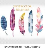 Rainbow Watercolor Feathers...
