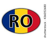 sticker on car  flag romania ...