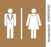 toilet sign  fitting room sign... | Shutterstock .eps vector #436053433