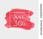 sale weekend 30  off sign over... | Shutterstock .eps vector #436053940