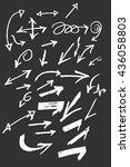 arrows doodle set on blackboard   Shutterstock .eps vector #436058803