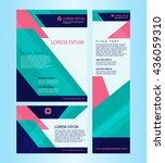 cover design for booklet annual ... | Shutterstock .eps vector #436059310