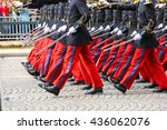 Close Up Of Military Parade...