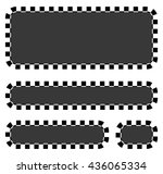 set of blank banners  plaques... | Shutterstock .eps vector #436065334