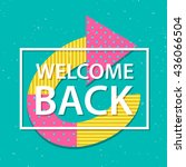 """vector card with  text """"welcome ...   Shutterstock .eps vector #436066504"""