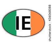 sticker on car  flag ireland...