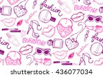 hand drawn patter. fashion...   Shutterstock .eps vector #436077034