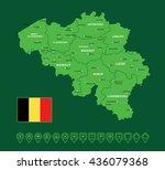 belgium green map vector... | Shutterstock .eps vector #436079368